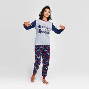 Harry Potter Mischief Managed 2 Piece Pajama Set L